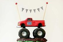 Boy's Monster Truck Party / monster | truck | boy | birthday | party | ideas | cake | decorations | themes | supplies | favor | invitation | cupcakes  / by Spaceships and Laser Beams