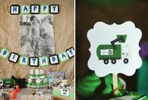 Boy's Garbage Truck/Recycling Party / Garbage | trash | recycling | boy | birthday | party | ideas | cake | decorations | themes | supplies | favor | invitation | cupcakes | cakepops / by Spaceships and Laser Beams