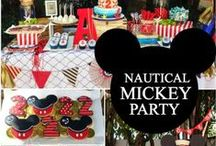 Boy's Mickey Mouse Party / mickey mouse | disney | clubhouse | boy | birthday | party | ideas | cake | decorations | themes | supplies | favor | invitation | cupcakes | cakepops / by Spaceships and Laser Beams