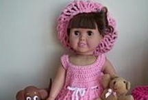 """18"""" doll Crochetes Clothes / by Audrey Overbaugh"""