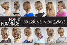 30 Buns in 30 Days / Hair Romance Hairstyle Challenge - Wear 30 different buns in 30 days! / by Hair Romance