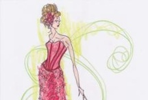 Original Red Dress Sketches / Original Red Dress sketches by Canadian designers for The Heart Truth Fashion Show 2008-2012 in Canada.  http://www.facebook.com/TheHeartTruth / by The Heart Truth