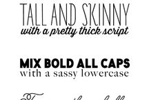{fonts, graphics, & typography} / by jennifer tucker