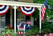PATRIOTIC DECORATING / Patriotic Decorating / by Diane Ameres