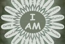 Affirmations / Think positive, live positive. Change your life by changing your inner dialogue / by Yoga In My School