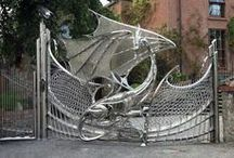 Fences, Doors, and Gates / I use the great ideas for fences and gates to design masterpieces for my clients. / by Shelley Sparks