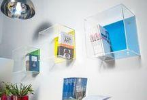 Acrylic Cube Shelves / Modular acrylic cube for interior design. More info: www.designtrasparente.com / by Designtrasparente online shop