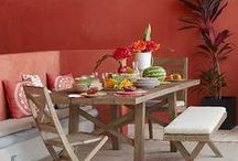 Red + Orange :: Interiors / by Canvas Art Designs