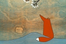 art ~ whimsy woodland creatures / foxes and squirrels and their woodland friends.  mostly foxes! / by Alana P