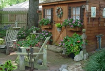Garden ~ Sheds & Benches / Garden Sheds & Potting Benches / by Organic Gardens Network™