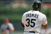 Frank Thomas through the Years / White Sox legend Frank Thomas has been elected into the Hall of Fame! To celebrate, we have pinned photos of Frank's career milestones and highlights! #BigHurtHOF / by Chicago White Sox