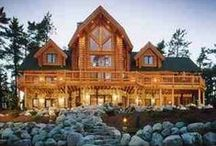 Log Cabins We Love @ Rocky / Here are some log cabins we love to share. Some are of the inside and some are just the outside. / by Rocky Mountain Decor