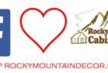 """Come socialize with Rocky!  / We are on both Facebook and Twitter!  https://www.facebook.com/RockyMountainCabinDecor @Rockymtdecor Come tweet and """"Like"""" us!  / by Rocky Mountain Decor"""