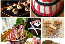 •Pirate Party• / For my Son's 3rd birthday we had a pirate theme and it was a blast. It helped we also got to have it on a pirate ship.  / by Cynthia Graves