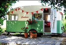 {caravans, trailers & tents} / ...and a few cool tents. / by Gail Levine