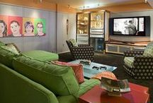 Media Rooms / Fun Media Room ideas for any family! / by Marker Girl | Karen Davis