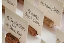 Weddings: Invitations/Escort Cards/Signs/Table numbers / by Erin Burke