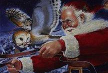 Santa Owls & Stockings  / by Linda King