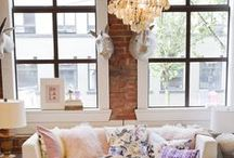 """DoWnToWN LiVInG / Apartment  /  City Life  /  Urban - Industrial  ~ Exposed Brick  & Gorgeous Windows / by Rachael Powell - """"MyssP"""""""