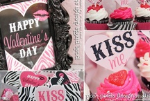 Zebra ♥ Valentine's Party  / Everything you need for a super cute, black, hot pink, & zebra print Valentine's Day Party! / by Make Life Cute