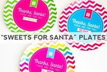 """""""Sweets for Santa"""" Plates / by Make Life Cute"""