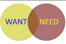 W vs. N / Things I want vs. need / by James J McMullen