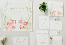 wedding paper / wedding stationery, menu and other creative paper ideas / by Aleah and Nick | Valley & Co.