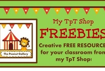 My TpT Shop FREEBIES / Why not check out one of the FREE items from my TpT shop? You can download any of these items for free by clicking the link to my shop. / by Peanut Gallery