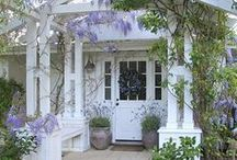 Wisteria Cottage / Please pin with consideration. It takes a long time to put these together. Regrettably, power pinners will be blocked / by Debbie Halkett