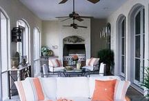 Porches, Outdoor spaces, pools, outdoor showers / by Susan Revall