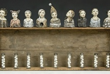 Assemblage  / Found objects, old, new, funky, folksy. Love it! / by Annie Agars