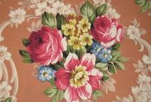 Vintage Floral Barkcloth Fabrics / by Recycled Luxury