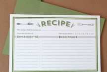 Printable Recipe Cards / by Norma Snider