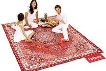 Picnic Lounge / At the beach, in the park or just simply relaxing in your own back garden, this useful yet elegant picnic rug provides enough comfort for your whole family and all of your friends! While its Persian pattern may have the appearance of a traditional rug, further exploration will reveal some surprising secrets... / by Fatboy
