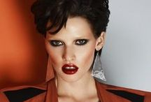 Lara Stone Shoot inspired by Patrick Nagel / Looks I created on supermodel, and modern day icon, Lara Stone for this months Turkish Vogue inspired by illustrator Patrick Nagel's work.