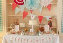 Fiesta azul y rojo / Red and blue party / by FIESTAFACIL