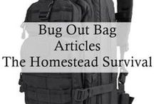 Bug Out Bag -  The Homestead Survival / A bug-out bag is a portable kit that contains the items one would require to survive for seventy-two hours or longer when evacuating from a disaster. / by The Homestead Survival