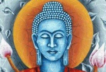 Buddha: Modern / Dedicated to the Buddha and Buddhism. One of nine boards. / by K D