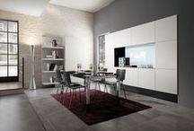 Scenery - Kitchens / Design by King & Miranda | A kitchen with a sophisticated appeal, offering a high degree of personalisation, where design inspired by the new live-in kitchen concept also provides impressive technological innovation / by Scavolini
