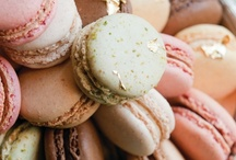 . macarons . / mɑːkɑːrɔːn a sweet, meringue-based confection made with eggs, icing sugar, granulated sugar & ground almonds, commonly filled with ganache, buttercream or jam.  / by Sharon Smith
