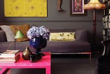C O L O U R _ P O P / a collection of interiors that use bright accents of colour to maximum effect / by Sharon Murray