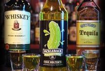 Pickleback / Pickleback: A pickleback is a type of shot wherein a shot of whiskey is chased by a shot of pickle brine. The pickle brine works to neutralize both the taste of the whiskey and the burn of the alcohol. The Pickleback is sometimes also called a Piskey or simply DILL-ICIOUS! / by Van Holten's
