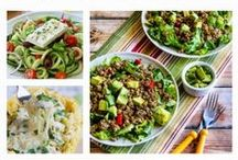 Deliciously Healthy Low Carb Recipes / This board has featured recipes from Kalyn's Kitchen monthly round-up of Deliciously Healthy Low-Carb Recipes from around the web.  (All recipes are Low-Carb and Gluten-Free.  Many are South Beach Phase One, Paleo, or Whole 30.) / by Kalyn's Kitchen