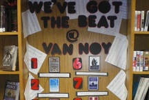 """Vivacious Variety at Van Noy Library / Fun and crafty things we have done here at the Van Noy Library. Our displays are made with love and a little bit of """"ok.....how do we make that?""""  / by Katie Buxbaum"""