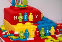 Lego Party Ideas / Lego party ideas for a boy or girl birthday -- Lego cakes, decorations, party foods and favors. See more party ideas at CatchMyParty.com. / by Catch My Party