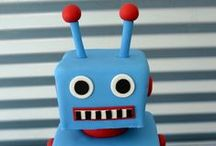 Robot  Party Ideas / Robot ideas for a boy birthday -- robot birthday cakes, decorations, robot party foods and favors. See more party ideas at CatchMyParty.com. / by Catch My Party