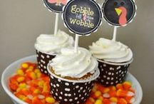Thanksgiving Treats and Desserts / Check out these amazing Thanksgiving desserts and sweets!  Thanksgiving cupcakes, Thanksgiving cookies, Thanksgiving mini desserts, Thanksgiving pies and cakes and more!  See more party ideas at CatchMyParty.com. / by Catch My Party