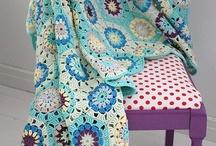 Crochet Grannies / Yarn crochet granny afghans throws grannies / by Joanne Towne