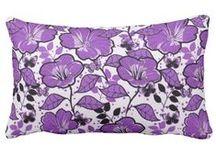 Purple Toss Pillows / by Lesley Stevens