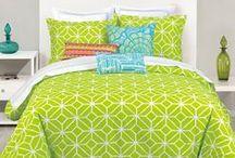 Lime Green Bedding / by Lesley Stevens